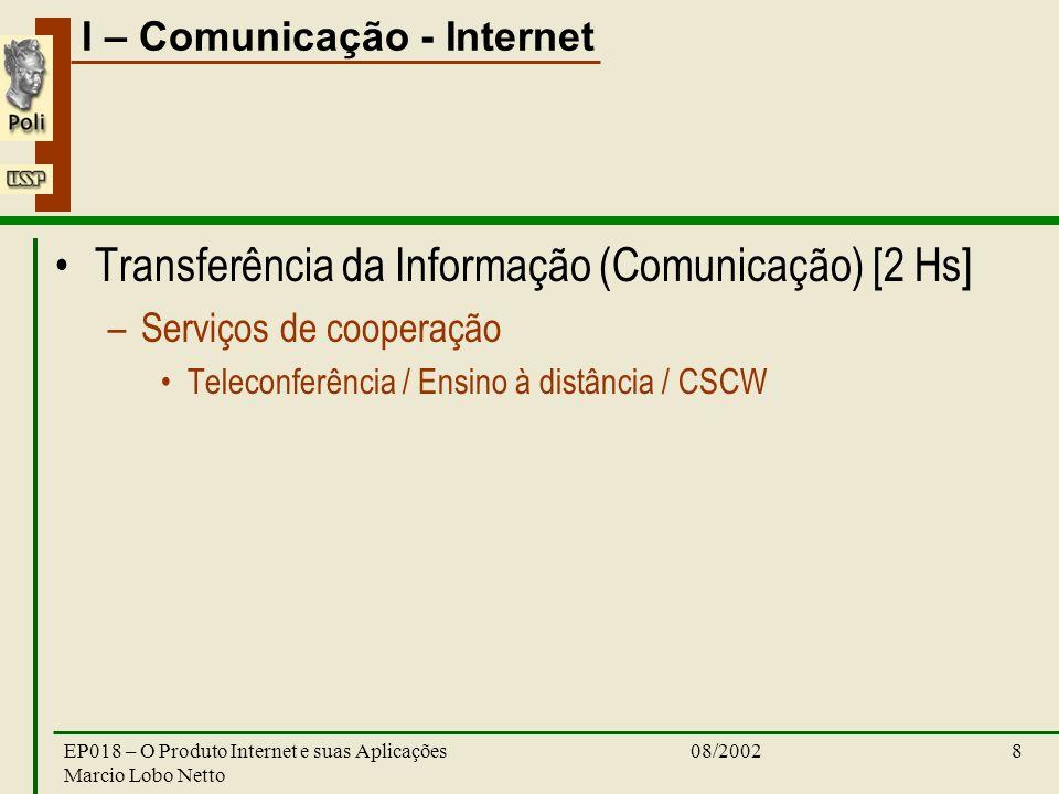 Transferência da Informação (Comunicação) [2 Hs]